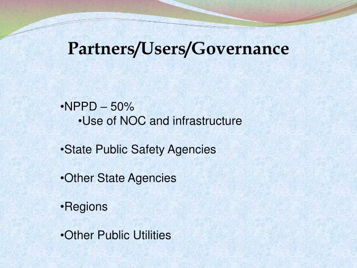 Partners/Users/Governance