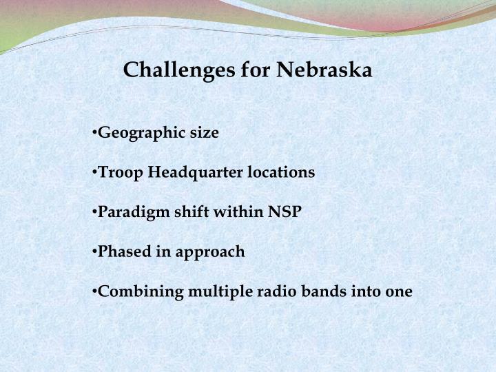 Challenges for Nebraska