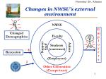 changes in nwsu s external environment