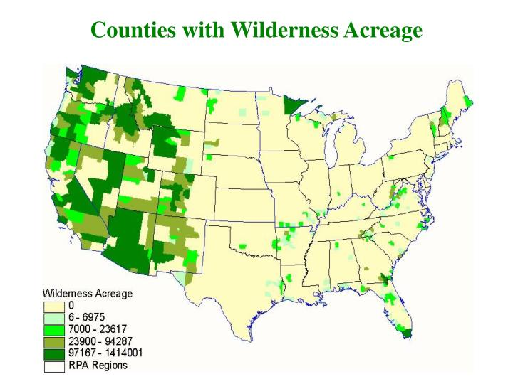 Counties with Wilderness Acreage