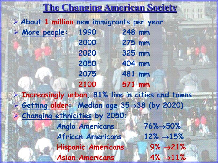 The Changing American Society