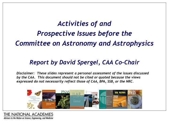 Activities of and