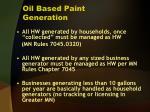oil based paint generation
