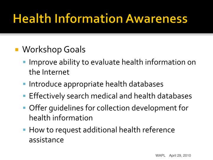 Health Information Awareness