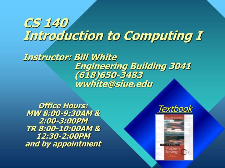 cs 140 introduction to computing i n.