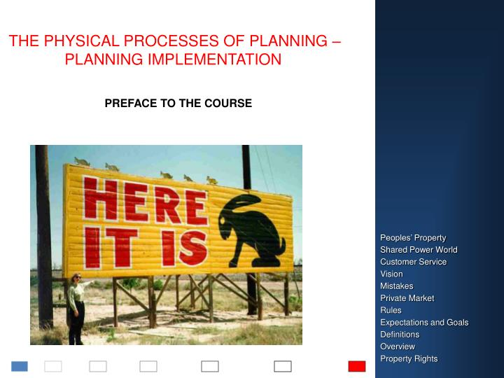 the physical processes of planning planning implementation n.