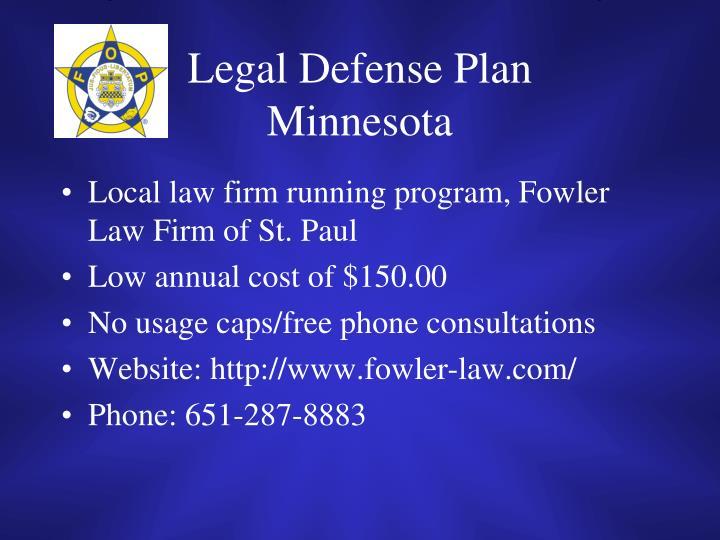 Legal Defense Plan