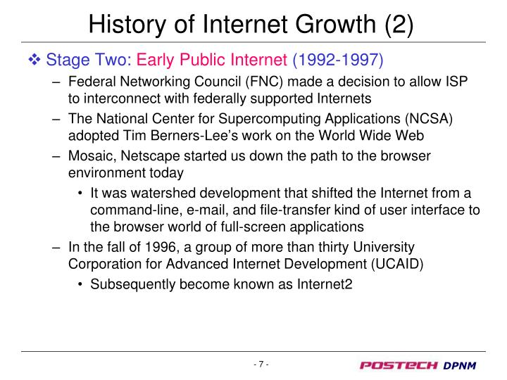 History of Internet Growth (2)