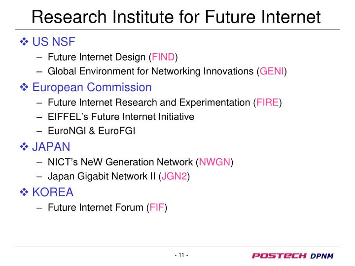 Research Institute for Future Internet