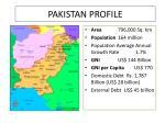 pakistan profile