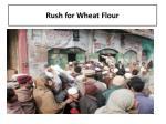 rush for wheat flour