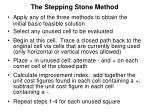 the stepping stone method