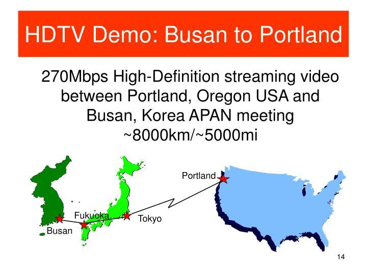 HDTV Demo: Busan to Portland