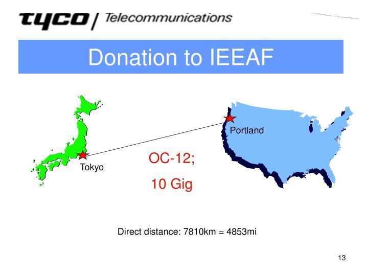 Donation to IEEAF