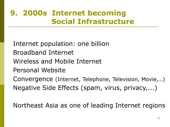 9.  2000s  Internet becoming