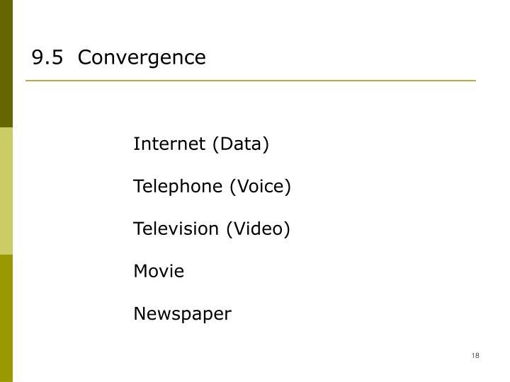 9.5  Convergence