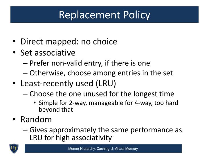 Replacement Policy
