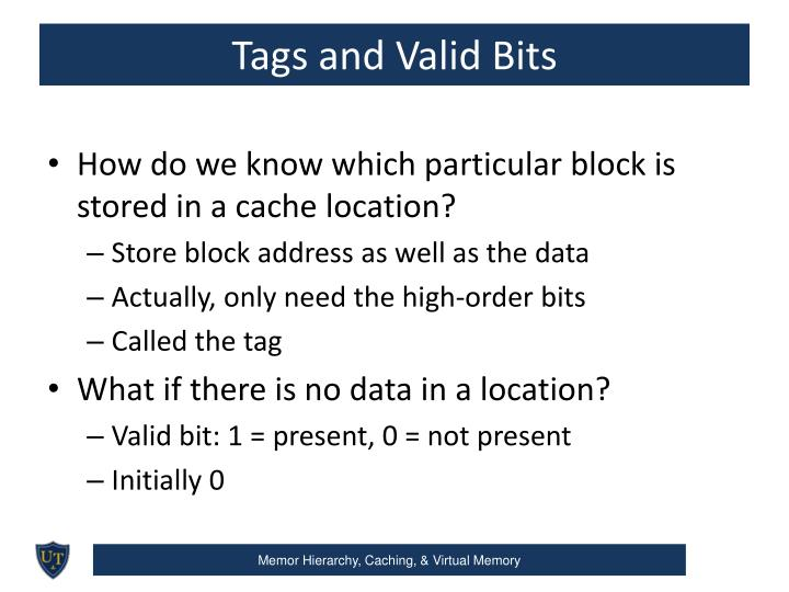 Tags and Valid Bits