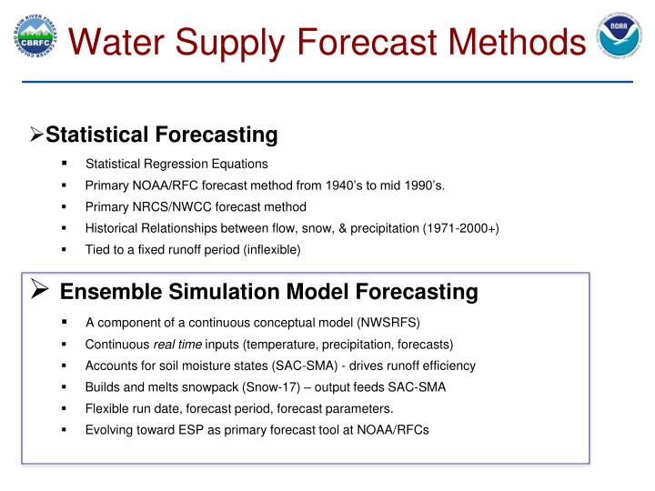 Water Supply Forecast Methods
