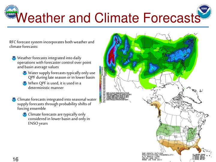 Weather and Climate Forecasts