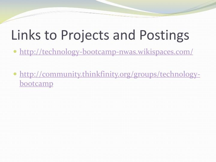 Links to Projects and Postings