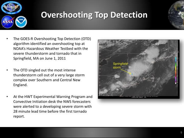 Overshooting Top Detection