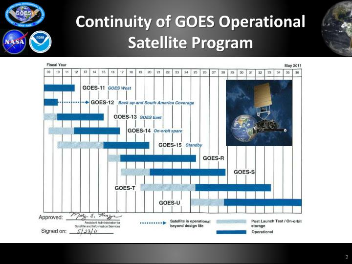 Continuity of GOES Operational