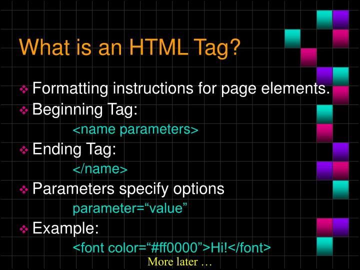 What is an html tag