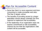 plan for accessible content