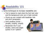 readability 101