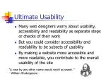 ultimate usability
