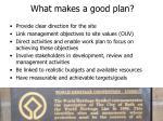 what makes a good plan