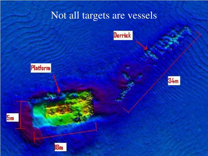 Not all targets are vessels