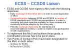 ecss ccsds liaison1