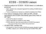 ecss ccsds liaison2