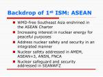 backdrop of 1 st ism asean