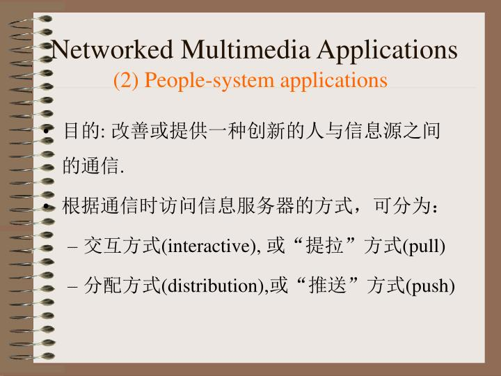 Networked Multimedia Applications