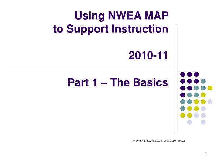 using nwea map to support instruction 2010 11 n.
