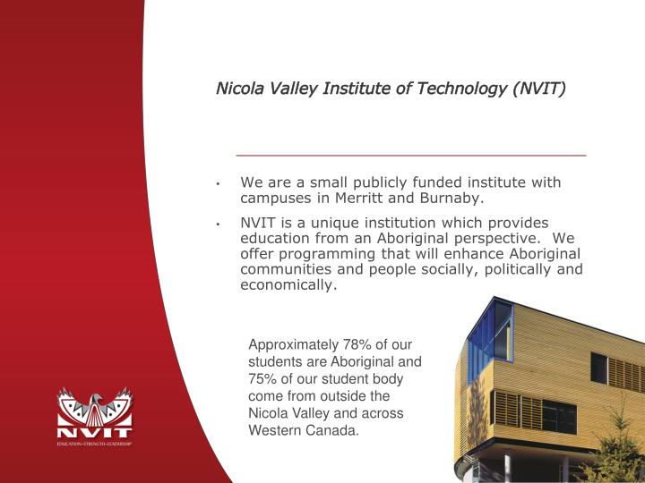 Nicola valley institute of technology nvit