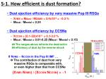 5 1 how efficient is dust formation