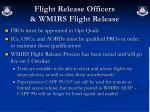 flight release officers wmirs flight release