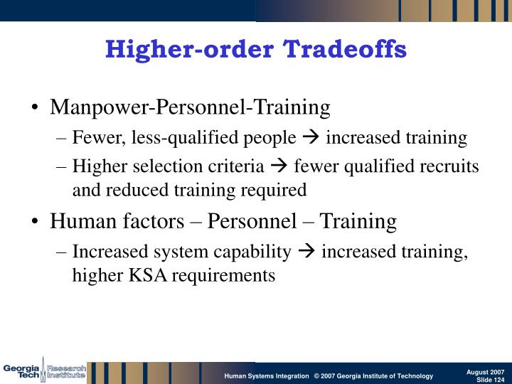 Higher-order Tradeoffs