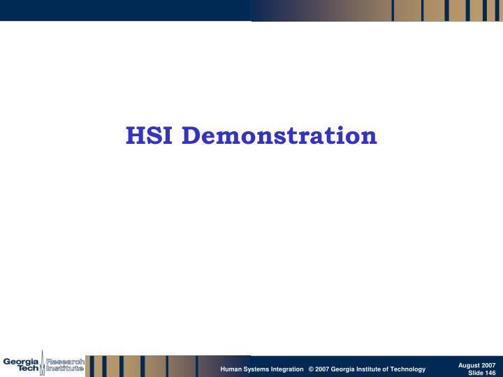 HSI Demonstration