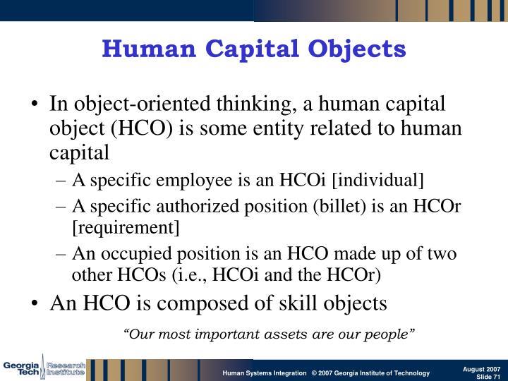 Human Capital Objects