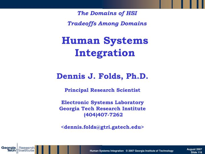 The Domains of HSI