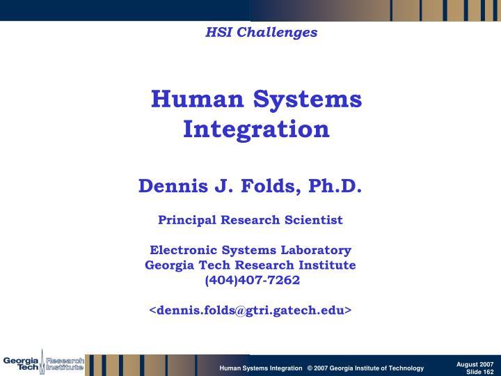 HSI Challenges