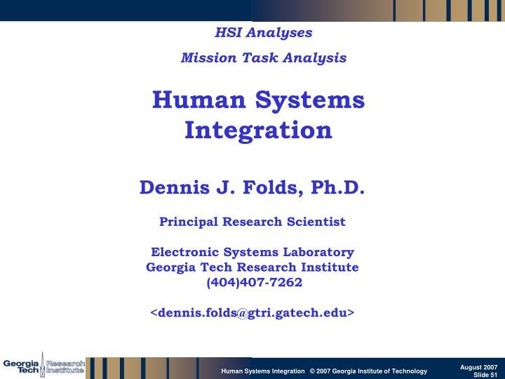 HSI Analyses