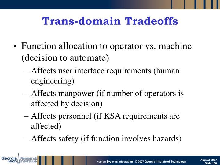 Trans-domain Tradeoffs