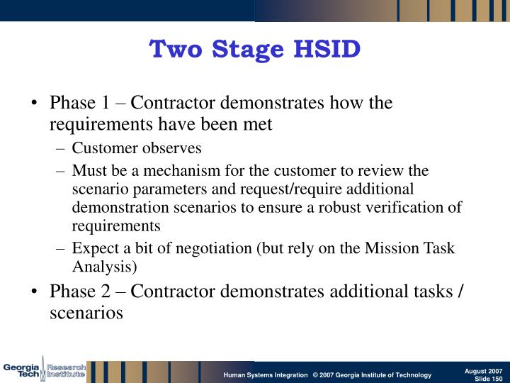 Two Stage HSID