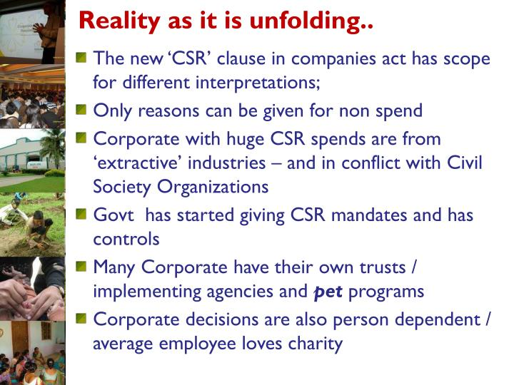 Reality as it is unfolding
